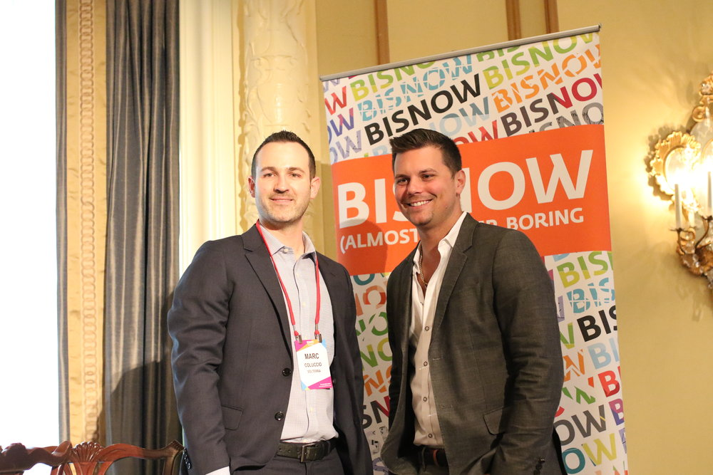"""PICTURED ABOVE: SolTerra Developers, Marc Coluccio and Brian Heather attended the 2018 Bisnow Multifamily Annual Conference Pacific Northwest on September 12, 2018 at the Fairmont Olympic Hotel. Marc was a panelist on the """"Condo Comeback"""" panel discussing the heightened demand for sustainable, luxurious and affordable condominiums."""
