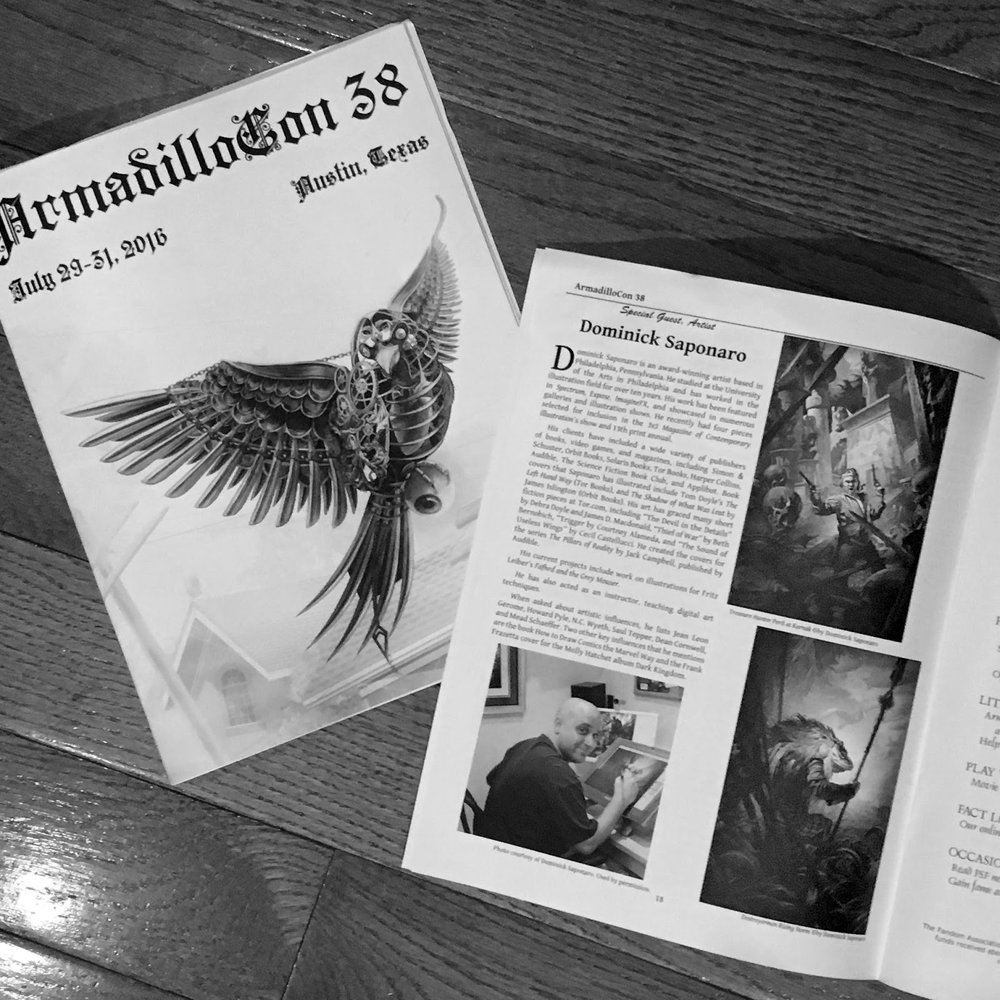 ArmadilloCon 38 Programing booklet with a nice feature on both Christina & myself.