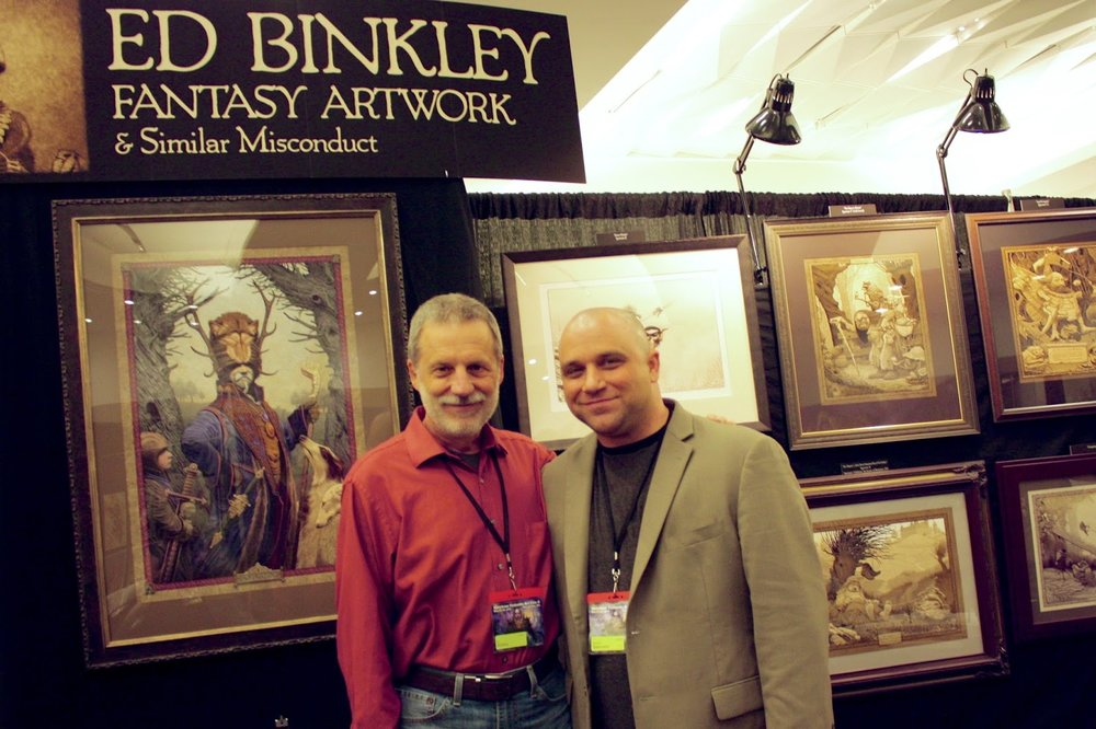 My booth Neighbor...   Ed Binkley .  Such a nice guy.  AMAZING work.  Loved his work for years.
