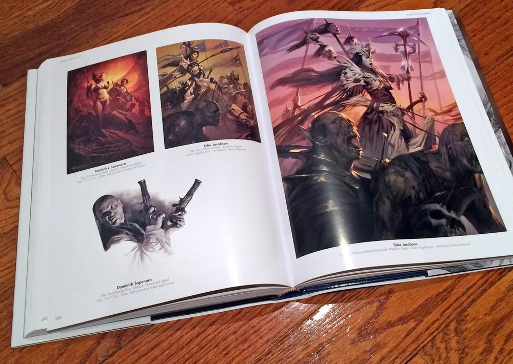 In very good company!  Here again with two really awesome pieces by my friend Tyler Jacobson.  So thrilled to share the page with this guy!  One hell of a painter and definitely one of the nicest guys in the biz.