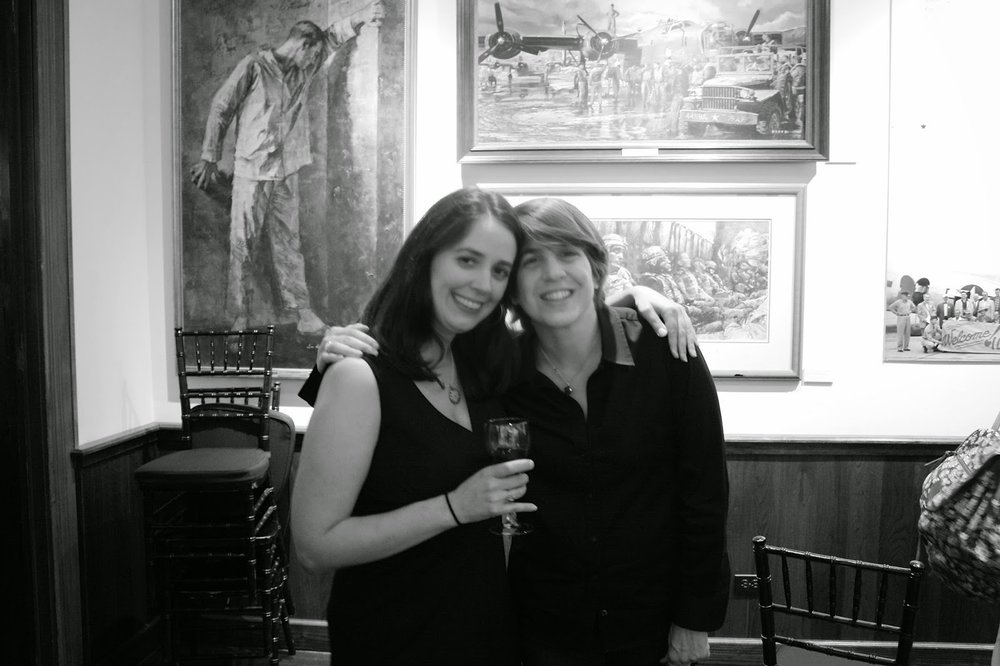 The lovely Christina Hess and Irene Gallo of Tor Books. Another amazing art director and chair of the exhibition.