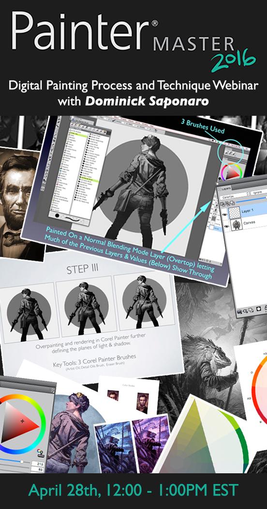 Corel PAinter Master - Dominick SAponaro - Digital Painting process webinar