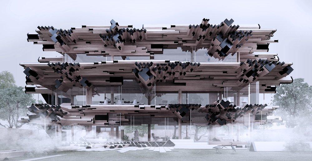 'Multi Family House' (Rendering courtesy of Gilles Retsin Architecture)