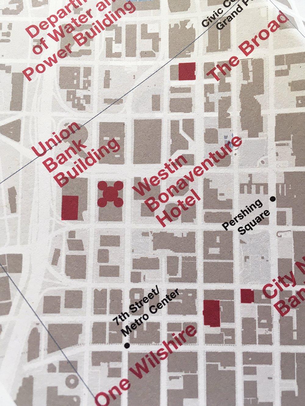 Detail of Concrete Los Angeles Map