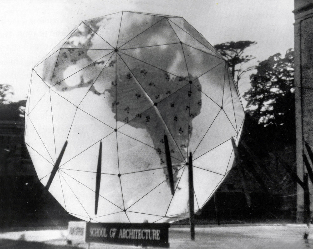 Buckminster Fuller's Geoscope, one of the 37 prototypes in The Architecture of Closed Worlds: Or, What Is the Power of Shit?