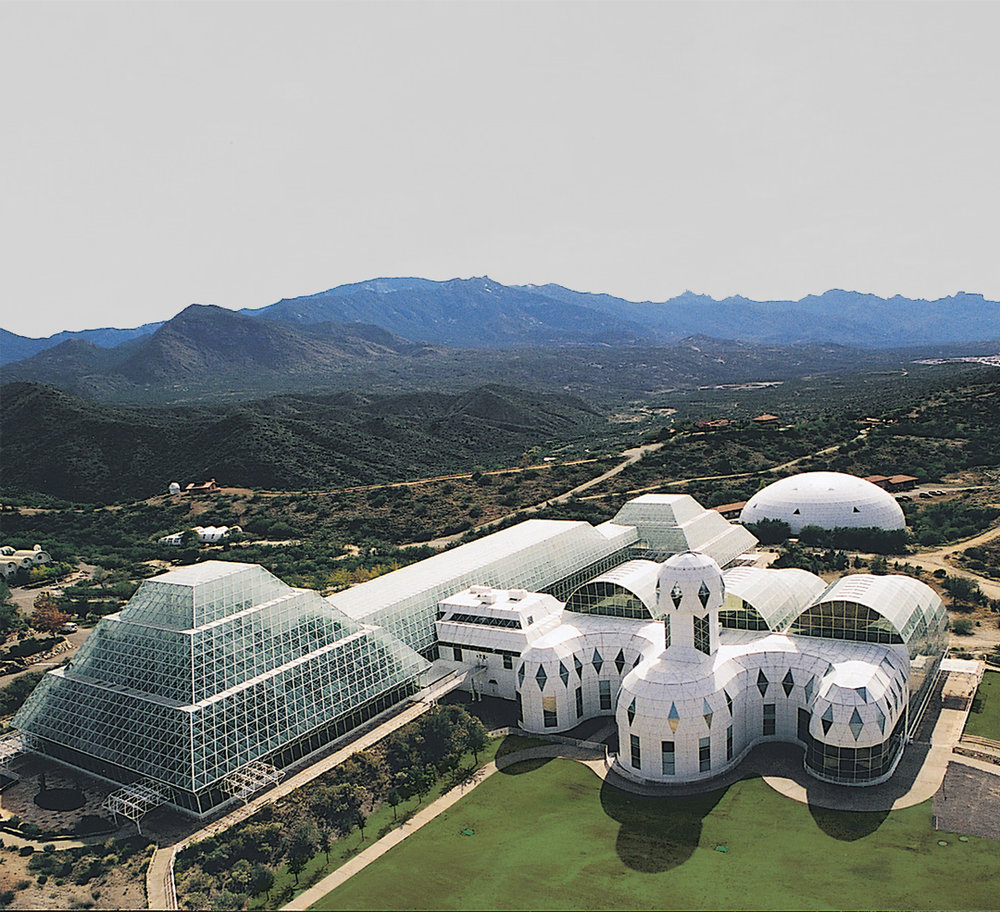 Biosphere II, one of the 37 prototypes in The Architecture of Closed Worlds: Or, What Is the Power of Shit?