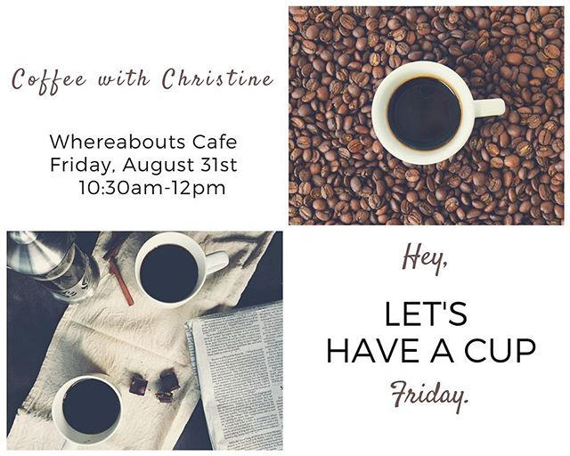 Come grab a cup of coffee with me at Whereabouts Cafe in Peoples Plaza Friday. I'll be there from 10:30am-12:00pm to talk with you about any concerns or questions you may have.