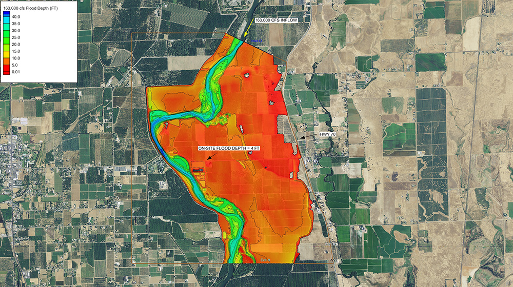 Gridley, CA - WWTP Topographic and Floodwater Analysis