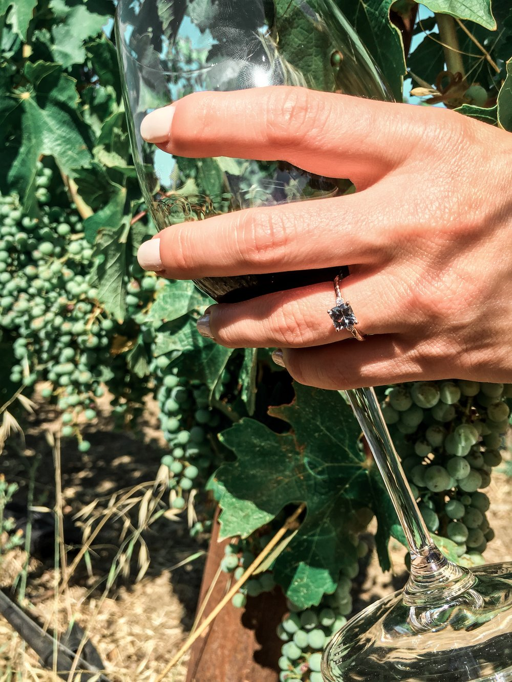 Had to grab a picture of the ring with those grapes!