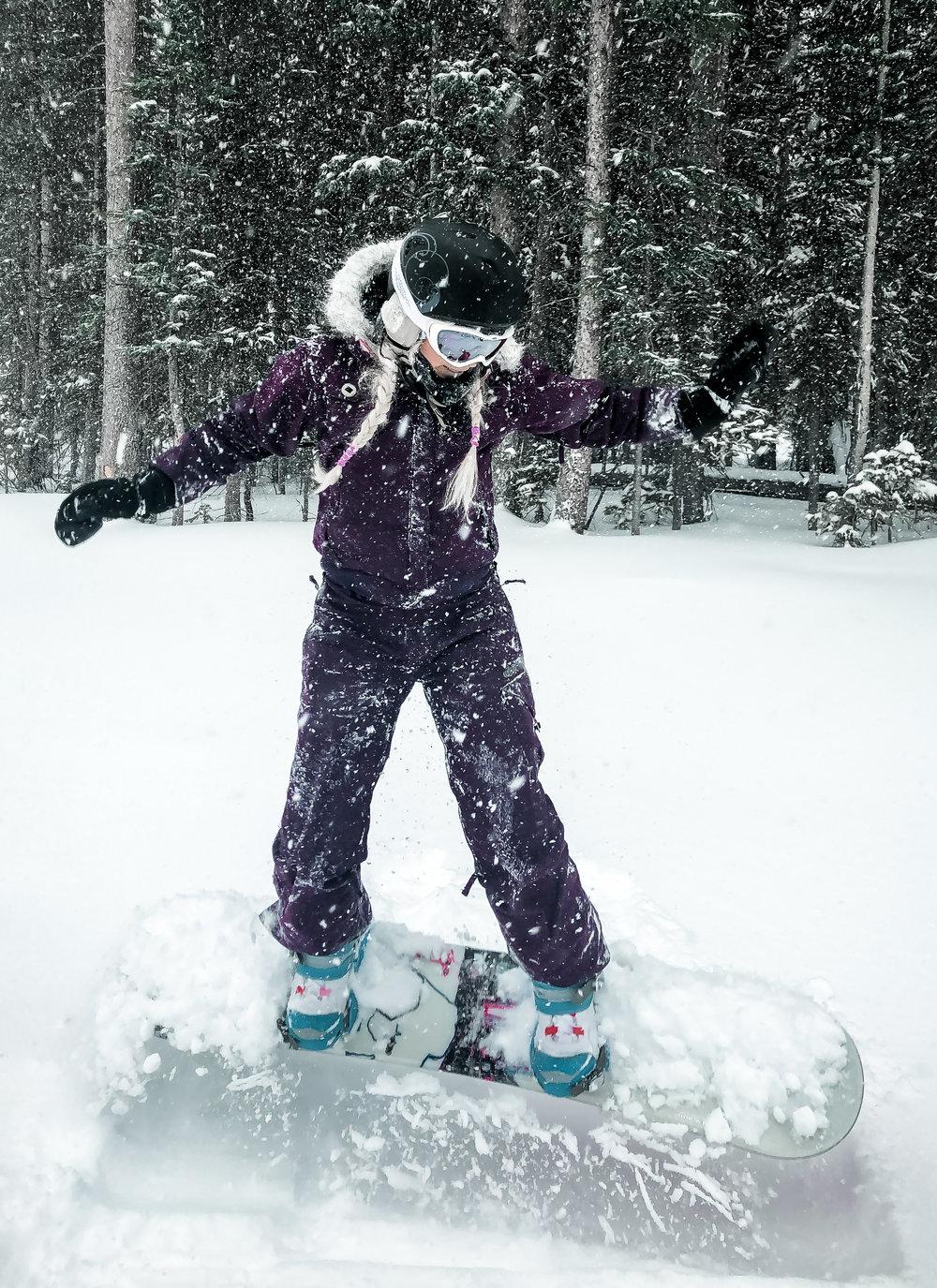 Snowboarding in Winter Park
