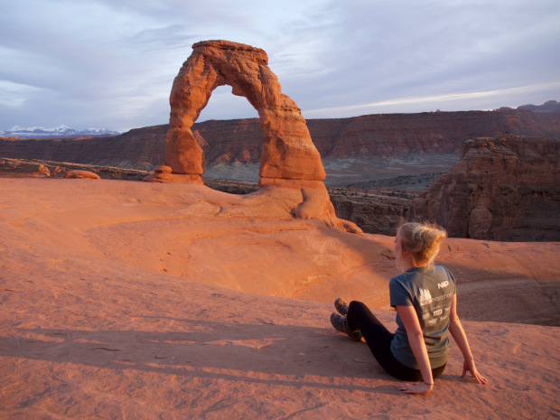 The photo I instagrammed from Delicate Arch