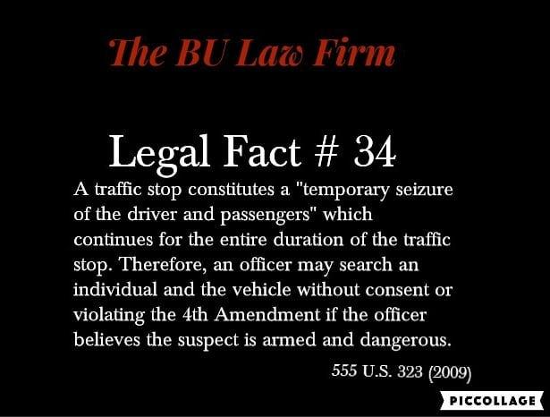 #100legalfactsof2018 #criminaldefense #policerights #trafficviolations #searchandseizure #knowyourrights #knowledgeispower #thatsfact #thebulawfirm