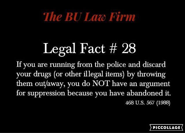 #100legalfactsof2018 #criminaldefense #policerights #searchandseizure #knowyourrights #knowledgeispower #thatsfact #thebulawfirm
