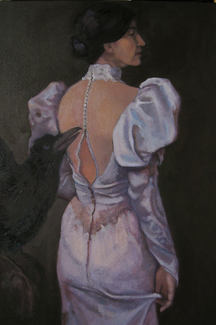 WEDDING DRESS  OIL  SOLD