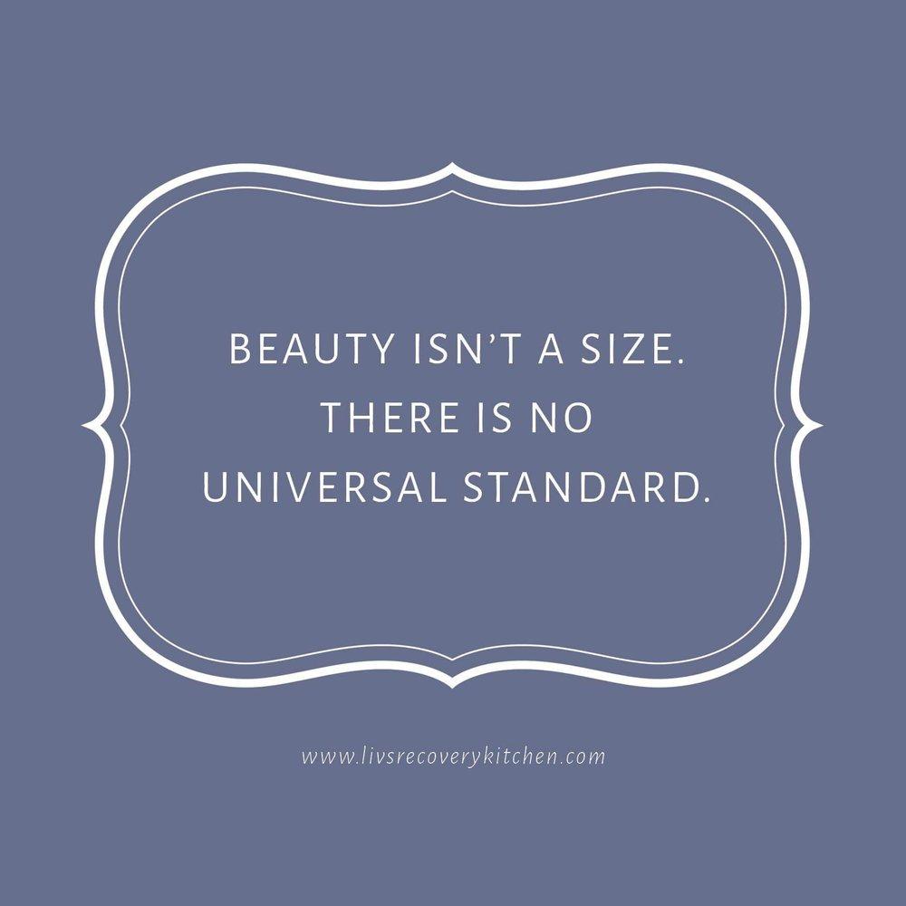 Beauty isn't a size