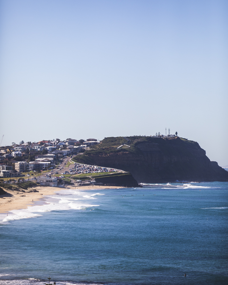 MEREWETHER BEACH LOOKING NORTH FROM NEAR MEREWETHER BEACH HOUSE ACCOMMODATION NEWCASTLE