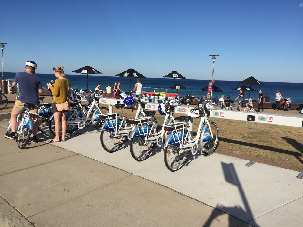 Hire an Electric Bike to explore -  - This station is at Merewether Surf Club