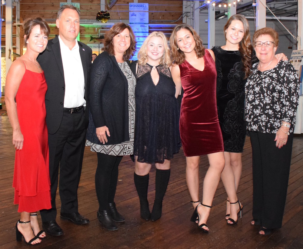 The tobin family at the 2017 als one snow ball at the jones river trading in kingston ma