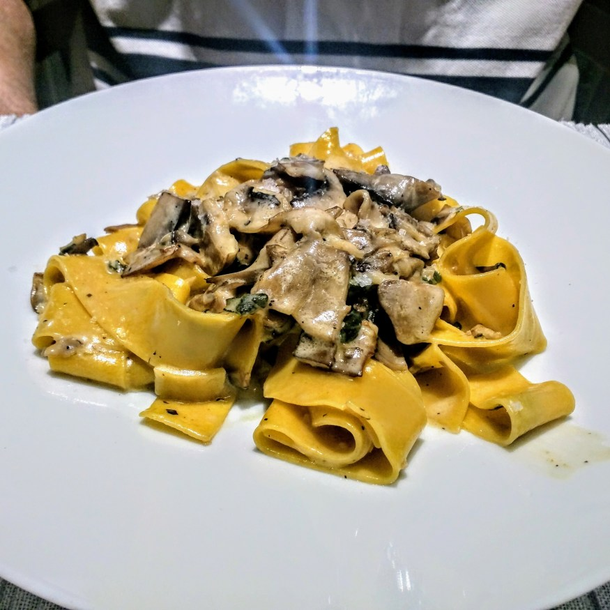 Tagliatelle with Forest Mushrooms at Ocean Cay