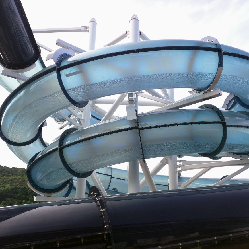 Water Slide that Juts Over the Ship's Edge