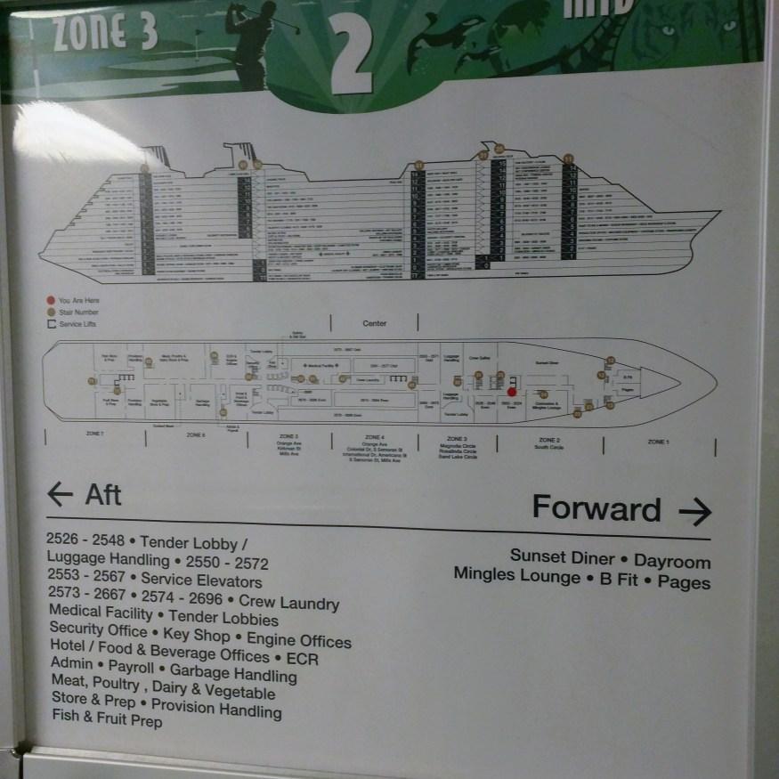 Crew deck plan