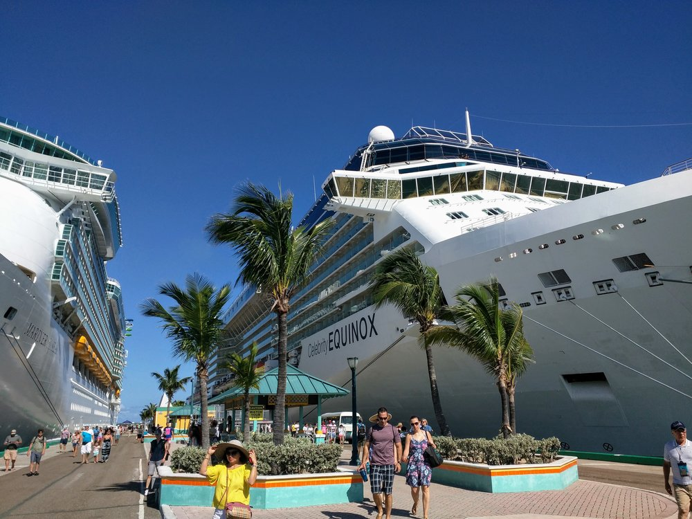 Celebrity Equinox docked in Nassau, Bahamas.