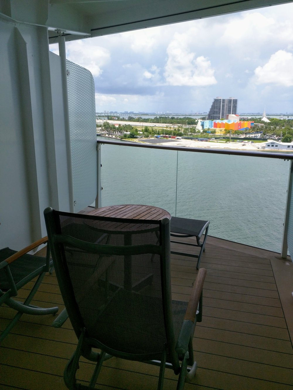 C2 Stateroom 1231 with extra long balcony on deck 10 next to the Celebrity and Royal suites.