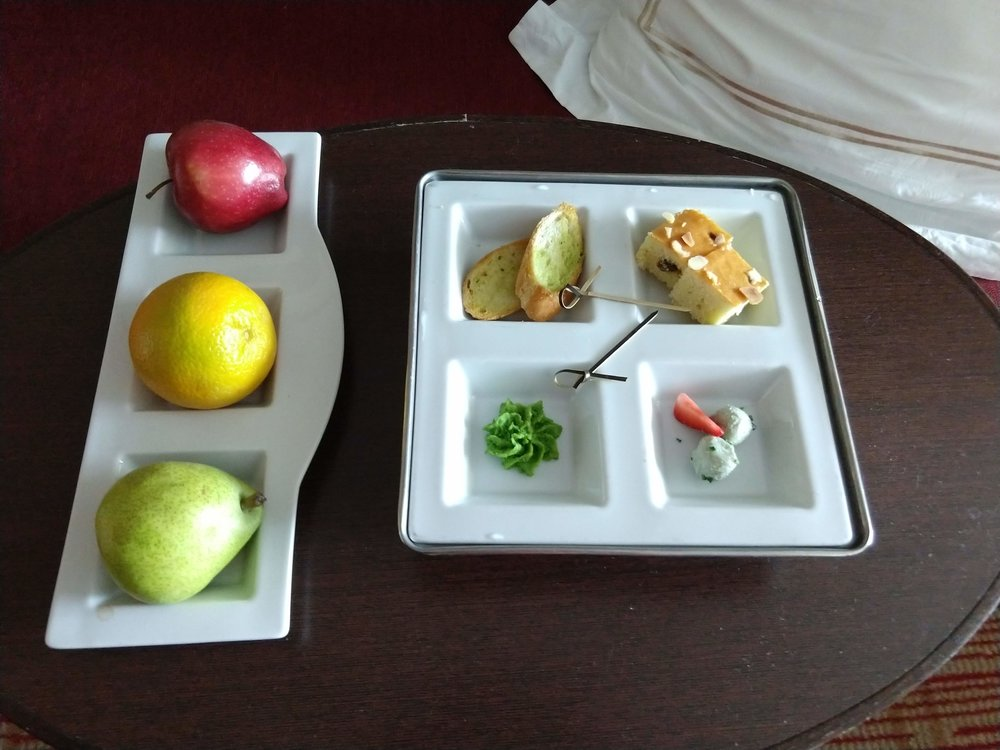 One of the daily delectable delights along with the fruit as complimentary for being in Concierge Class.