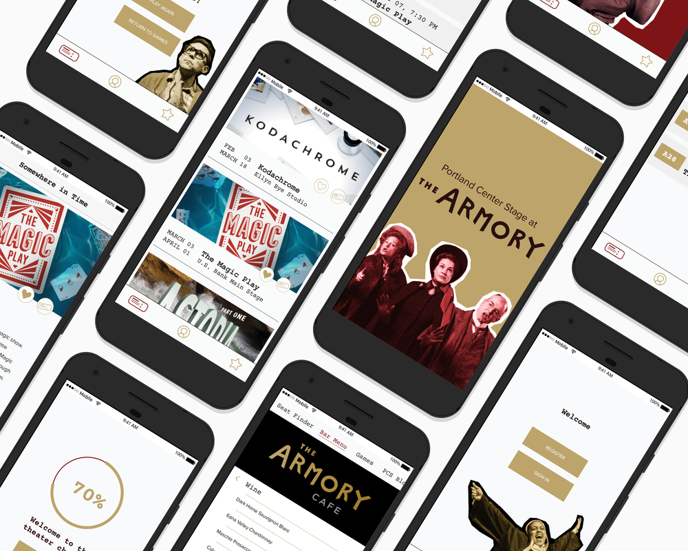PORTLAND CENTER STAGE| MOBILE APP - Located in the historic Armory, Portland Center Stage is enriched with all things history. Their plays are often trial runs for Broadway productions and have an extensive amount of research put into them before opening day.