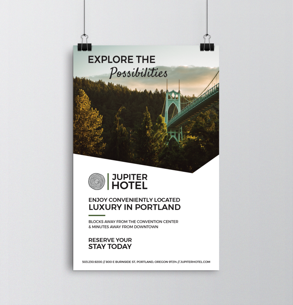 """""""Explore the possibilities of Portland"""" large format poster"""