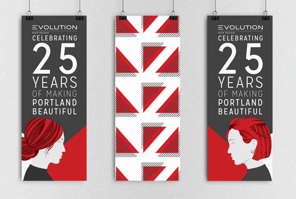 Large format anniversary banners