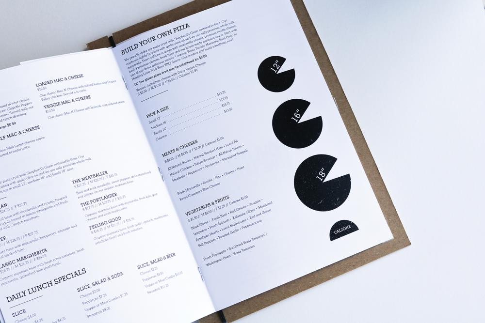 Inside menu spread