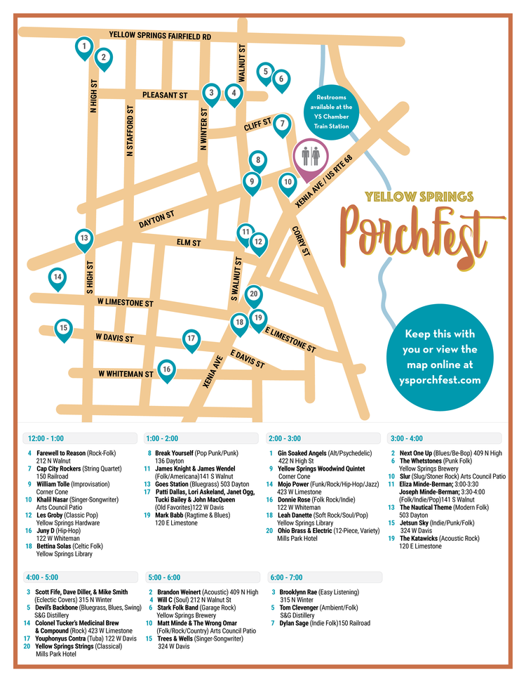 Yellow Springs Porchfest October 6