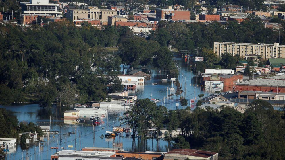 Lumberton, NC, following Hurricane Matthew (Photo Credit Unknown)