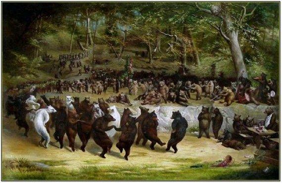"""The Bear Dance,"" c. 1870, by William Holbrook Beard"
