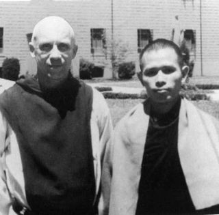 (Photo: Unknown) Thich Nhat Hahn and Thomas Merton