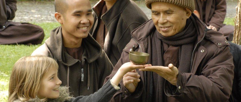(Photo: Unknown) Thich Nhat Hahn in Plum Village