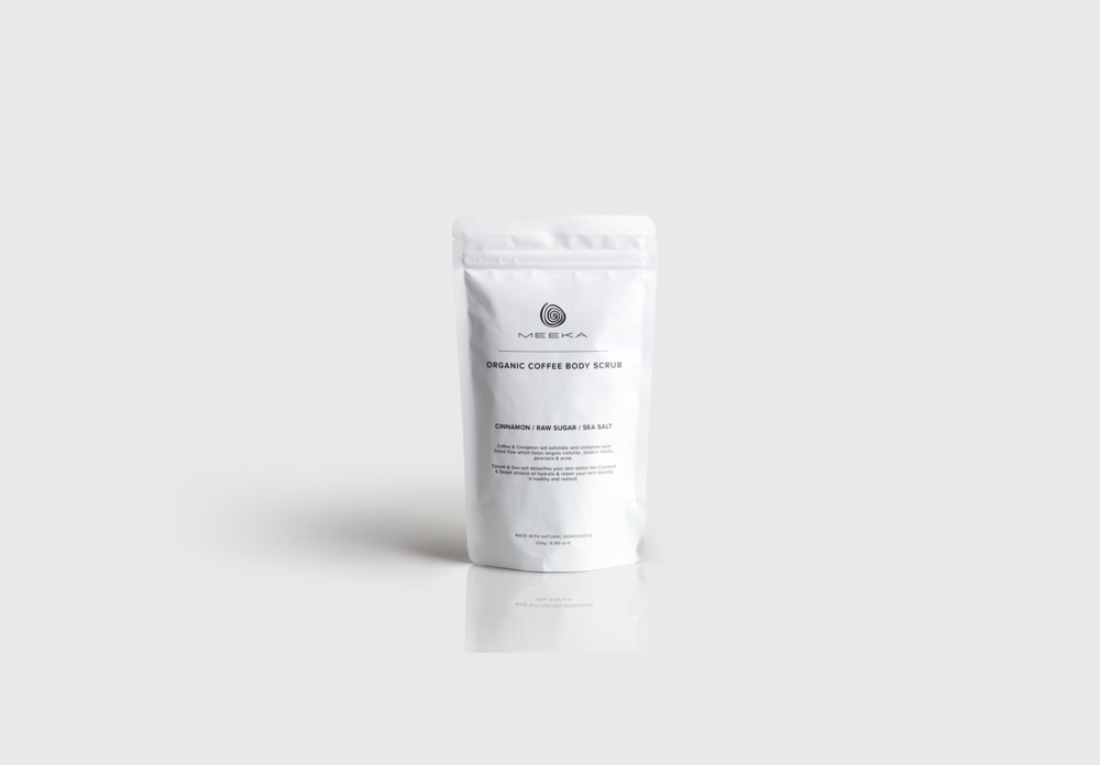 Body scrub packaging design, skincare packaging
