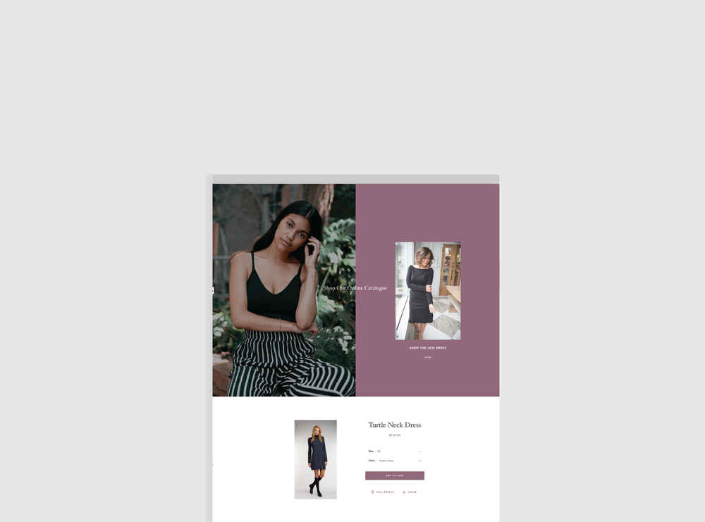 Shopify e-commerce website design