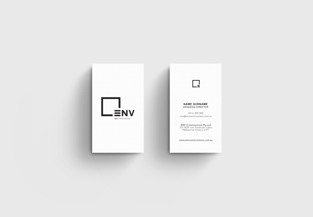 construction branding and business cards