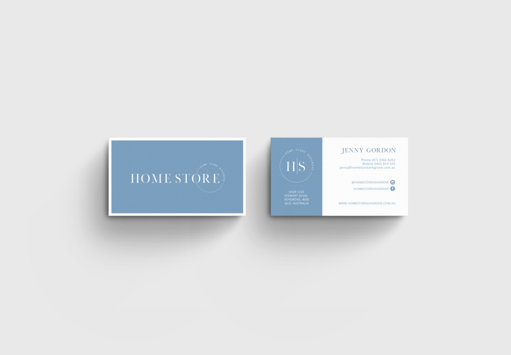 business card design for retail store