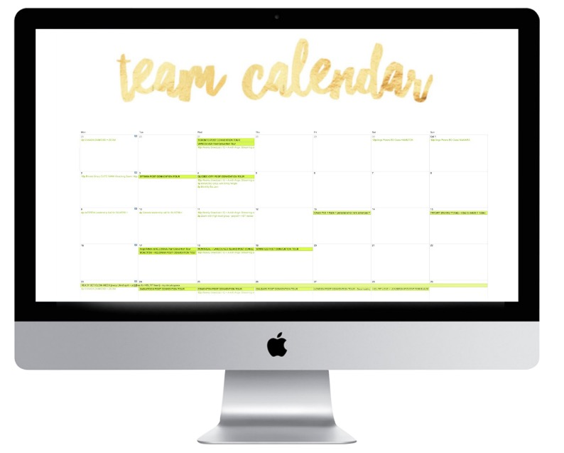 HOL:FIT team calendar