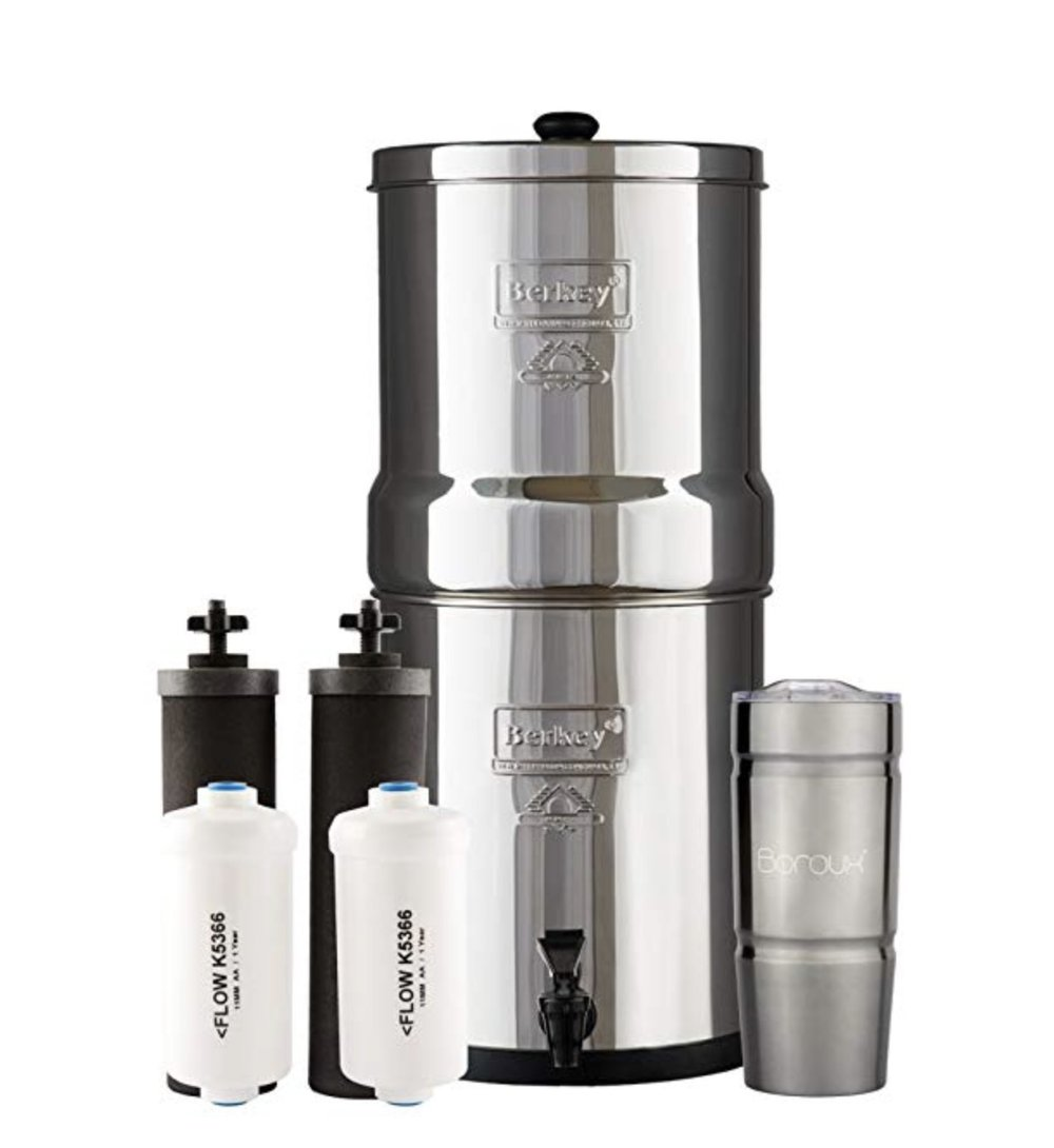Berkey water filter unit