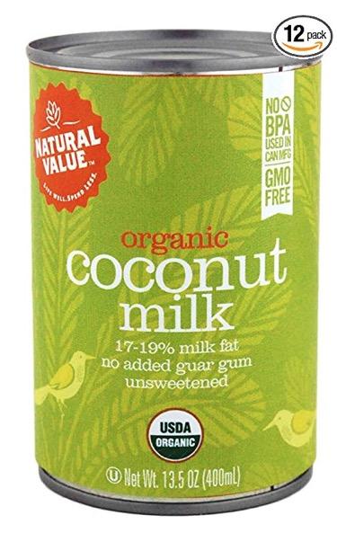 organic full fat coconut milk (bpa free)