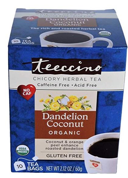 teeccino herbal tea (coffee alternative)