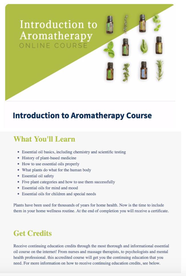 aromatherapy course (CECs)