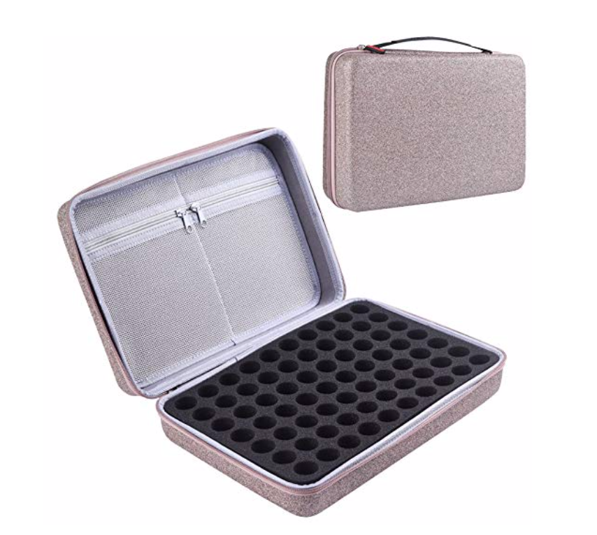 glitter travel case - holds 70