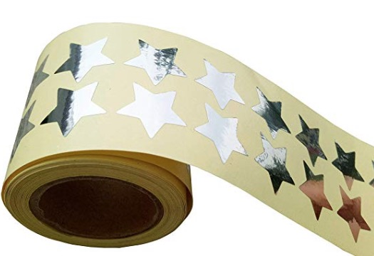 foil star stickers