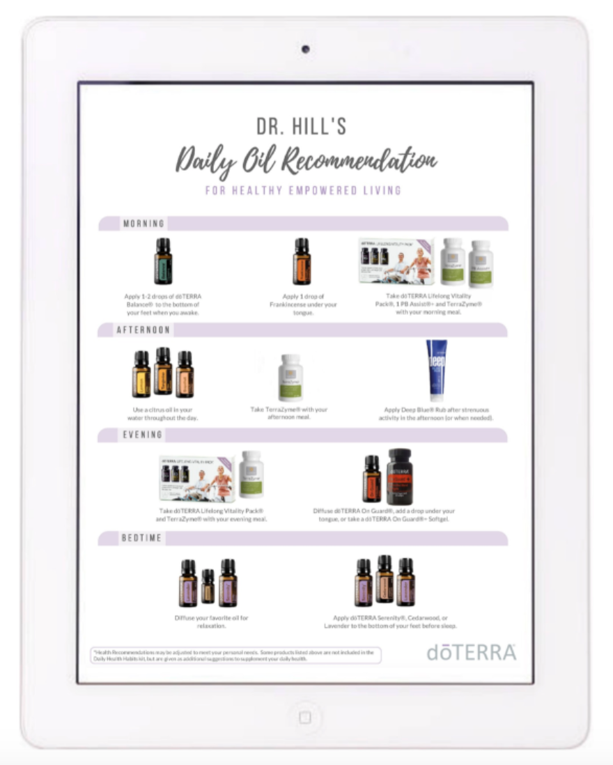 Dr Hill's doTERRA Daily Wellness Blueprint