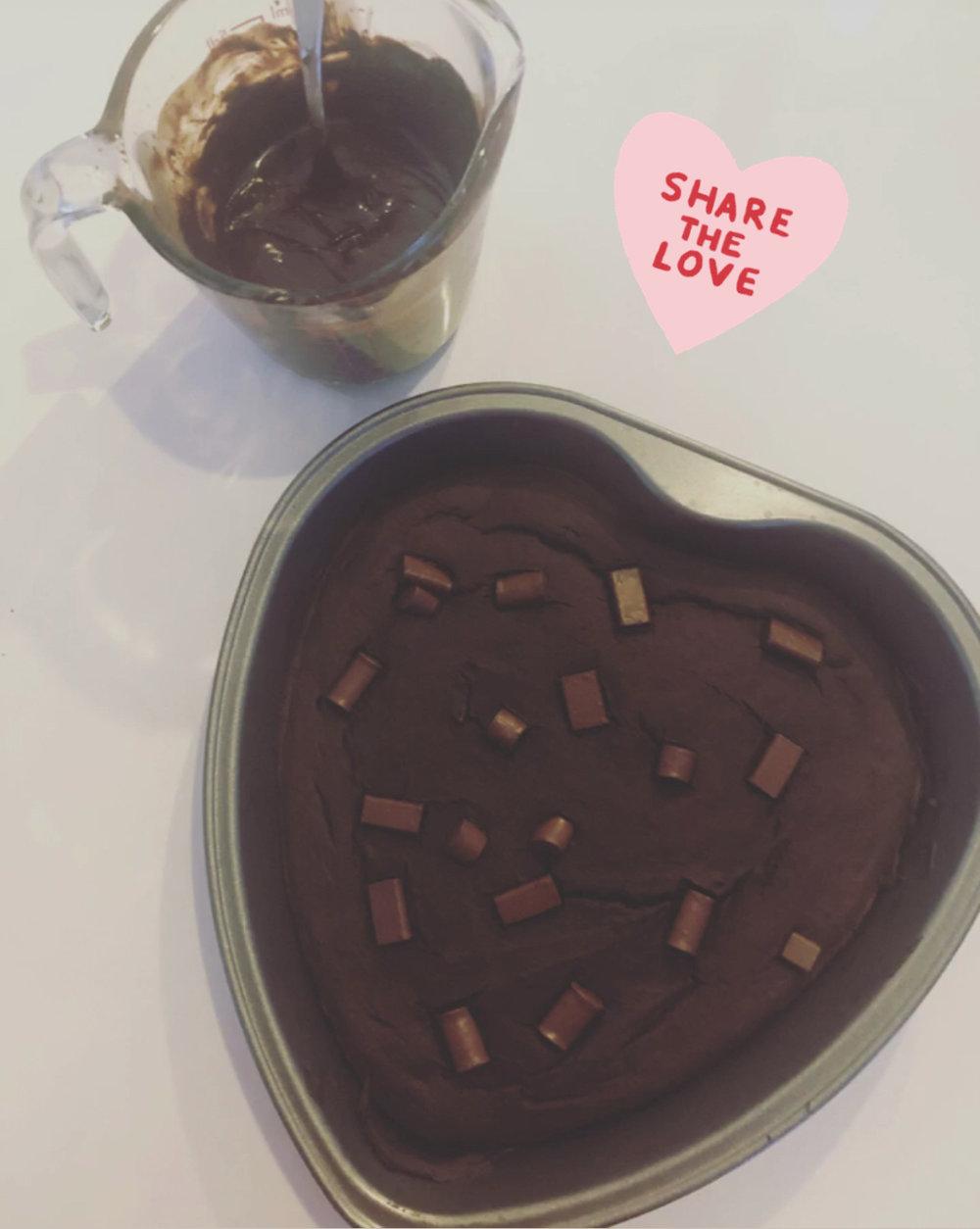 choc brownies + icing
